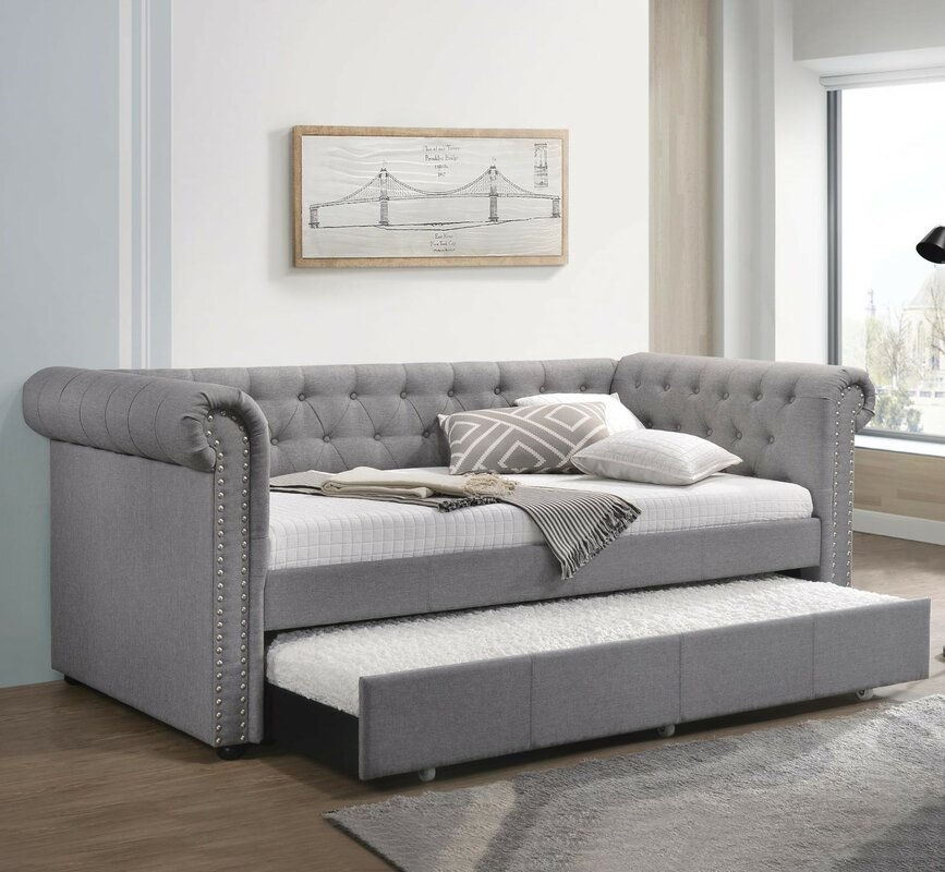 Sales Red Barrel Studio Tracie Twin Daybed With Trundle For Bedroom