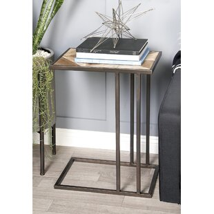 Cole & Grey Metal Wood End Table
