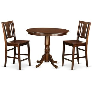 Trenton 3 Piece Counter Height Pub Table Set Wooden Importers