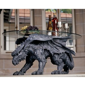 Warwickshire Dragon Coffee Table with Glass Top by Design Toscano