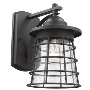 Liveva Transitional Textured Outdoor Wall Lantern by Gracie Oaks Comparison