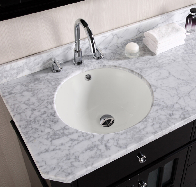 American Imaginations Ceramic Circular Undermount Bathroom Sink With Overflow Wayfair