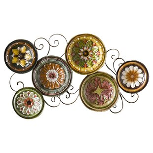 Scattered Metal Italian Plates Wall Décor