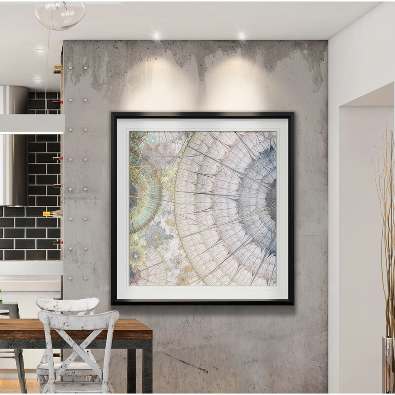 Geometric Wall Decorations - 'Clockworks III' - Picture Frame Graphic Art Print