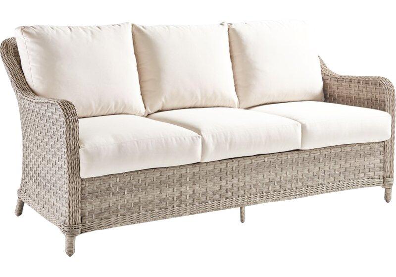 Hyde Park Patio Sofa with Cushion - Hyde Park Patio Sofa With Cushion & Reviews AllModern
