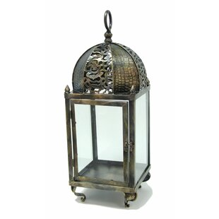 Steel And Glass Lantern By World Menagerie