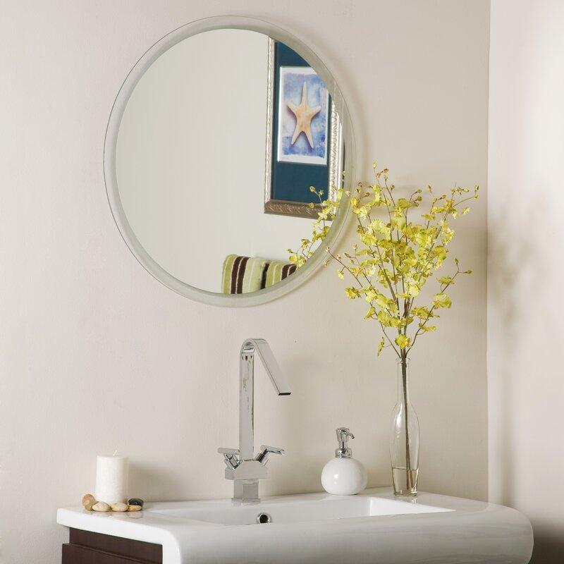 default_name - Decor Wonderland Frameless Beveled Karnia Wall Mirror & Reviews