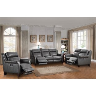 Kale Reclining 3 Piece Leather Living Room Set Red Barrel Studio Top  Reviews ...
