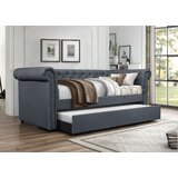 Zac Upholstered Twin Daybed with Trundle