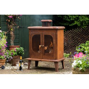 Rustic Steel Wood Burning Outdoor Fireplace By Sol 72 Outdoor