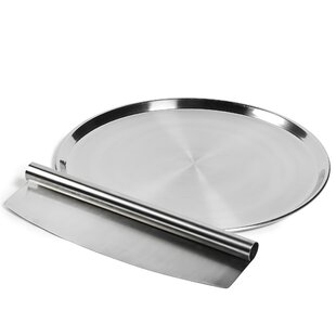2 Piece Stainless Steel Pizza Set