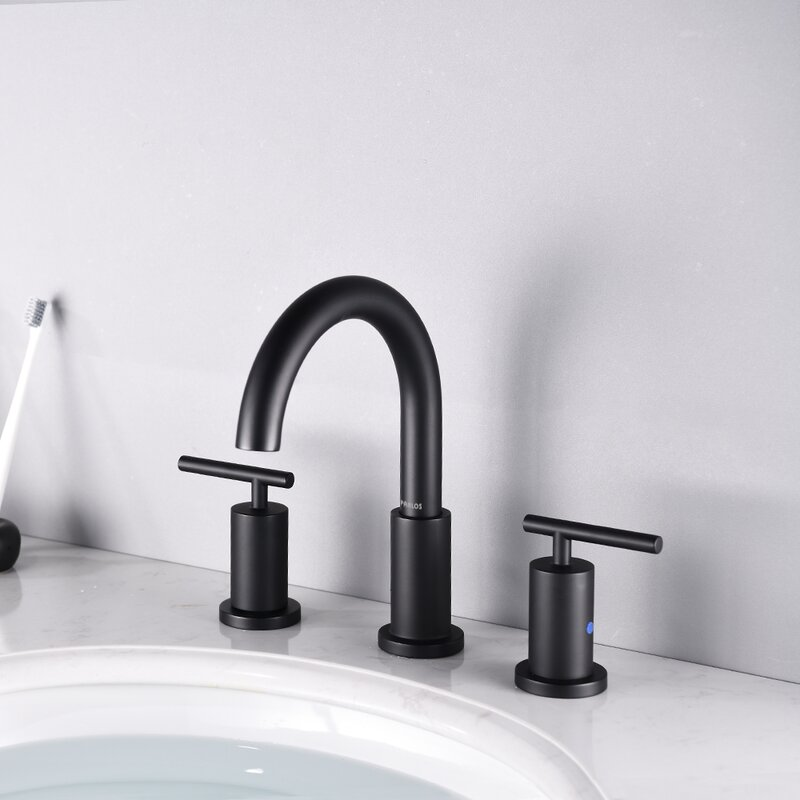 Parlos Home Widespread Bathroom Faucet With Drain Assembly Reviews Wayfair