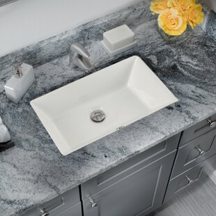 Check Prices Glazed Vitreous China Rectangular Undermount Bathroom Sink and Overflow By Cahaba