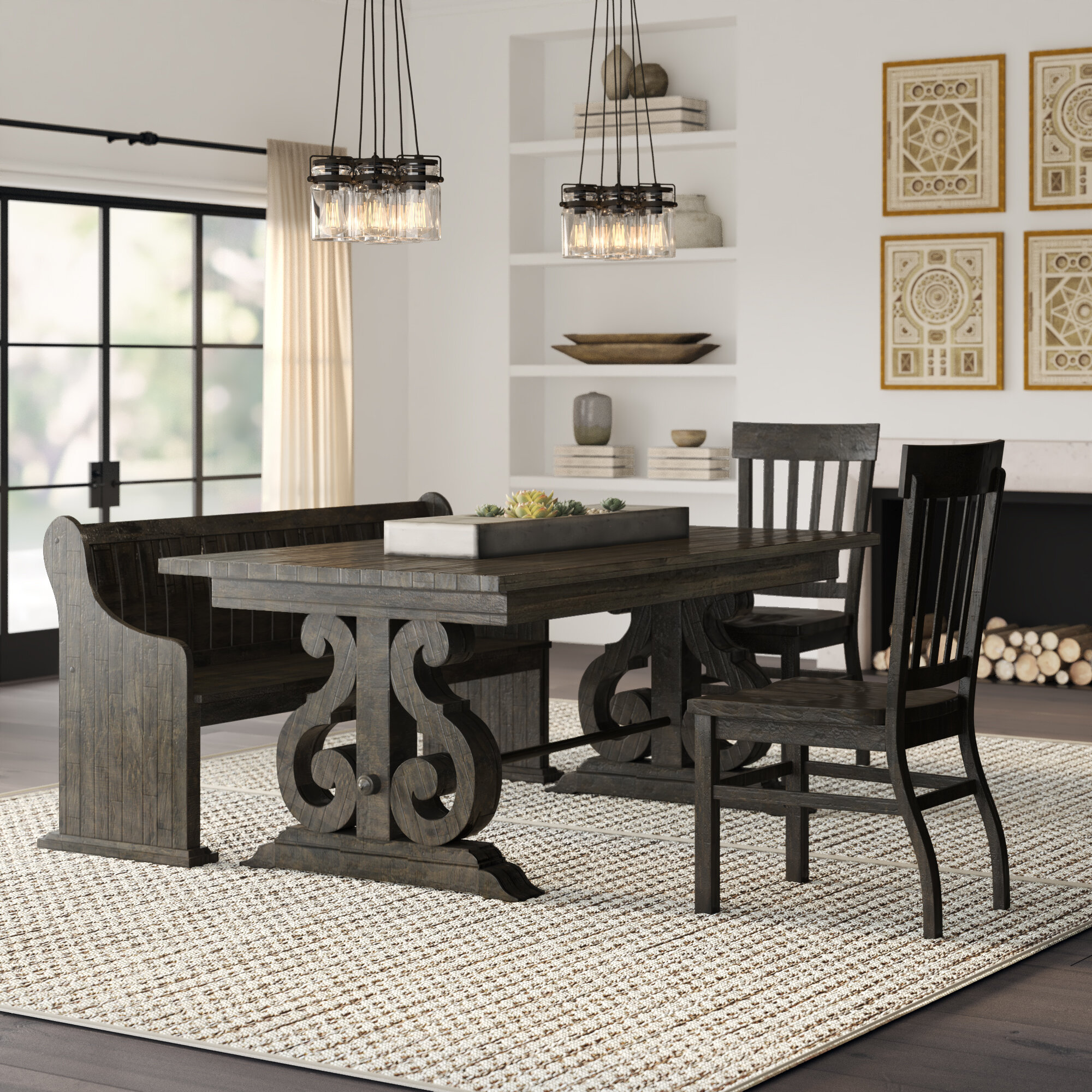Ellenton Coffee Table With Storage: Greyleigh Ellenton 4 Piece Dining Set