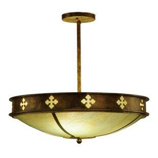 Meyda Tiffany Byzantine 3-Light Semi-Flush Mount