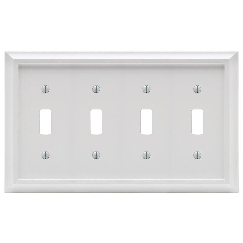 Amertac Deerfield 4 Gang Toggle Light Switch Wall Plate Wayfair