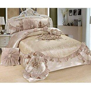 Astoria Grand Ferndale Sweet Victorian 6 Piece Satin Comforter Set