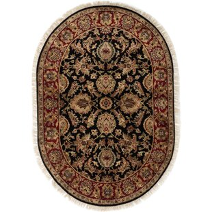 Savings One-of-a-Kind Alasdair Hand-Knotted 4'2 x 6'2 Wool Black/Red/Cream Area Rug By Isabelline