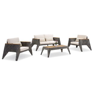 Gannon 4 Piece Sofa Set with Cushions
