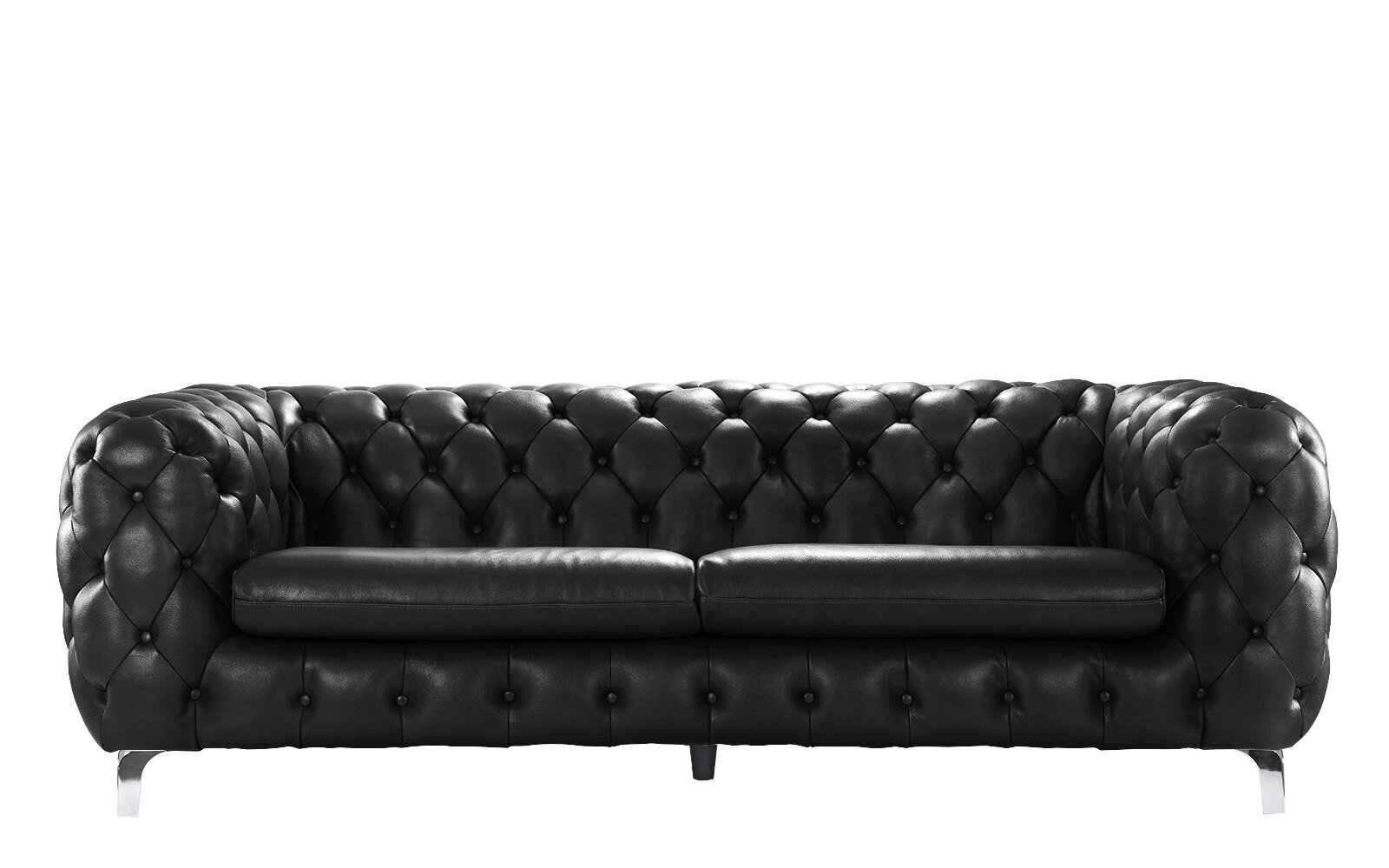 Yuliya Leather Chesterfield Sofa