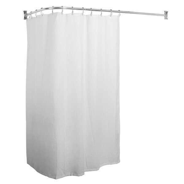 L Shaped Fixed Shower Curtain Rod