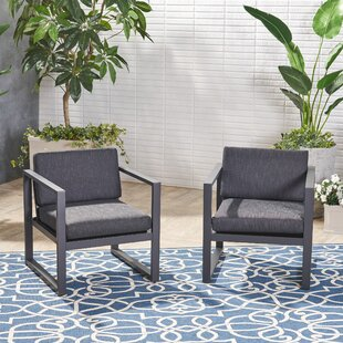 Maud Patio Chair with Cushions (Set of 2)