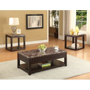 Howle 3 Piece Coffee Table Set by Red Barrel Studio