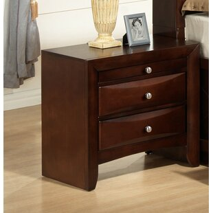Derik Storage 2 Drawer Nightstand