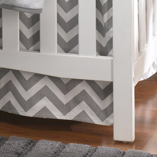 Chevron Crib Skirt By Liz and Roo Fine Baby Bedding