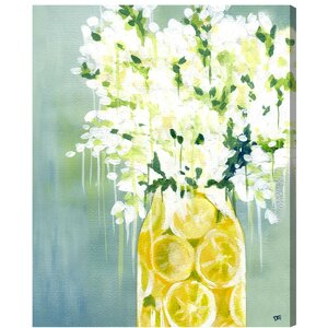 'Limoncello' Graphic Art on Wrapped Canvas