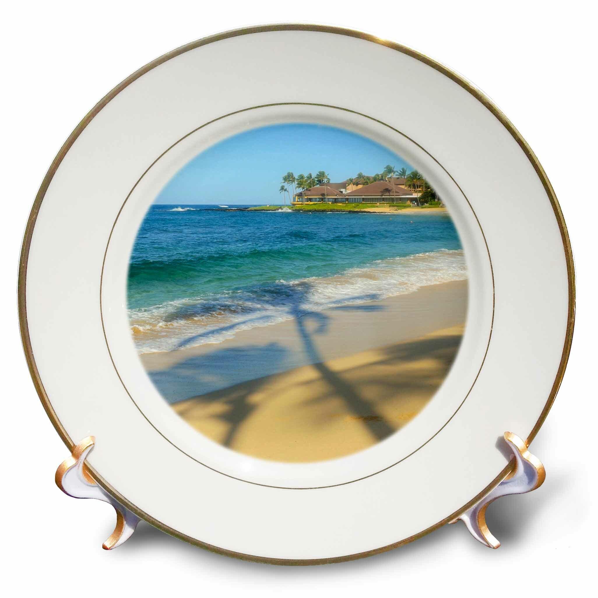 East Urban Home Poipu Beach Kauai Hawaii Porcelain Decorative Plate Wayfair