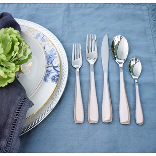 Essenza 5 Piece 18/10 Stainless Steel Flatware Set, Service for 1