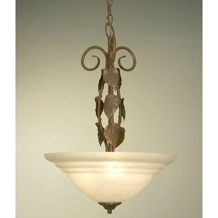 Classic Lighting Vineland 3-Light Bowl Pendant