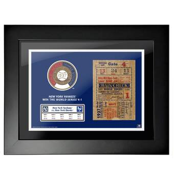 Mustang Products Mlb World Series Empire Picture Frame Textual Art Print On Paper Wayfair