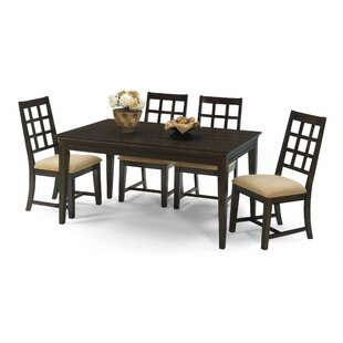 Bobbie 5 Piece Solid Wood Dining Set by P..