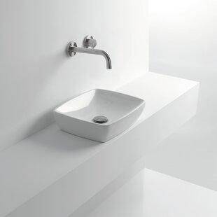 Shop For H10 Ceramic Rectangular Vessel Bathroom Sink ByWS Bath Collections
