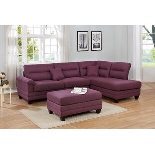 Tapley Reversible Sectional with Ottoman by Winston Porter