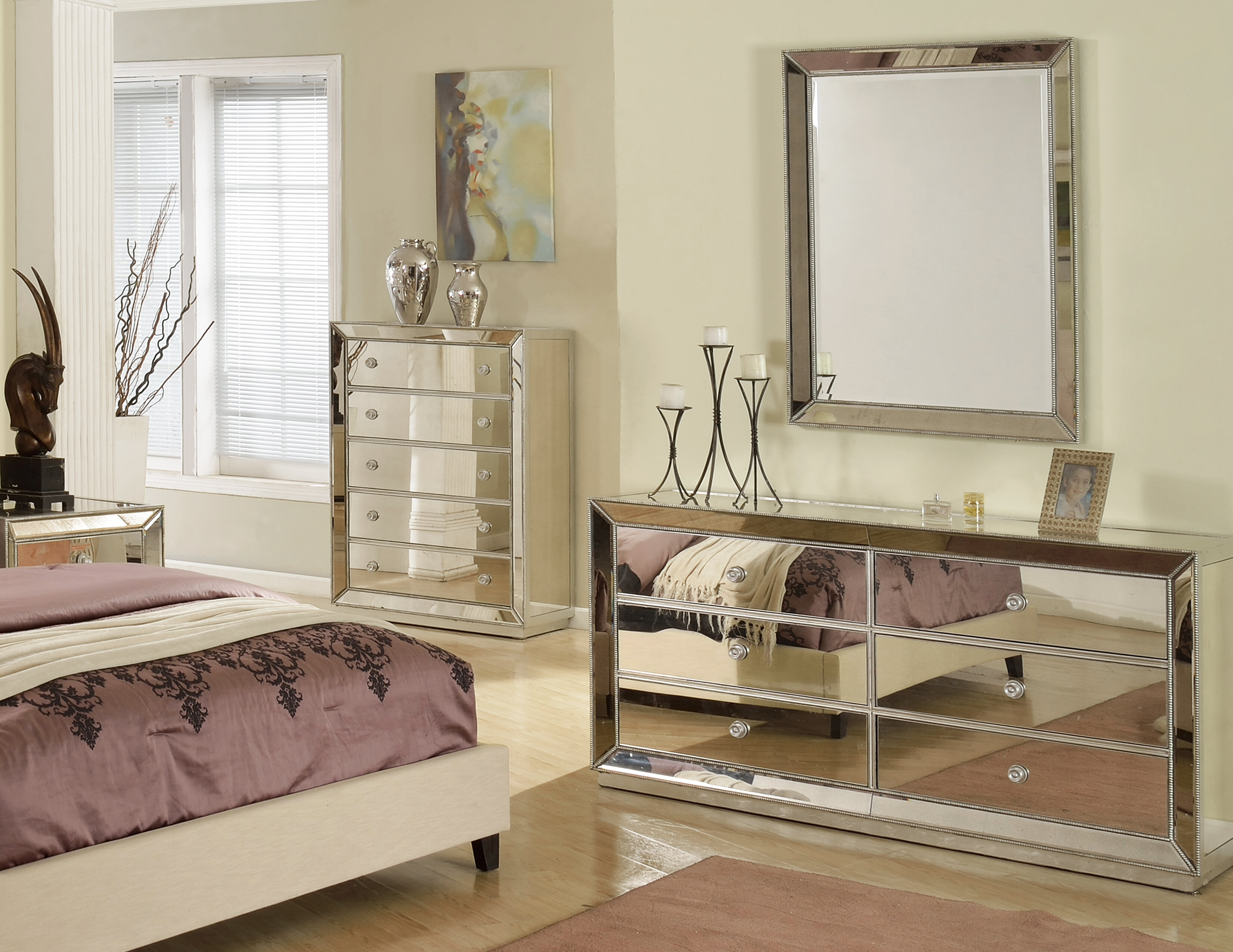 Rosdorf Park Wolak 6 Drawer Double Dresser With Mirror Wayfair