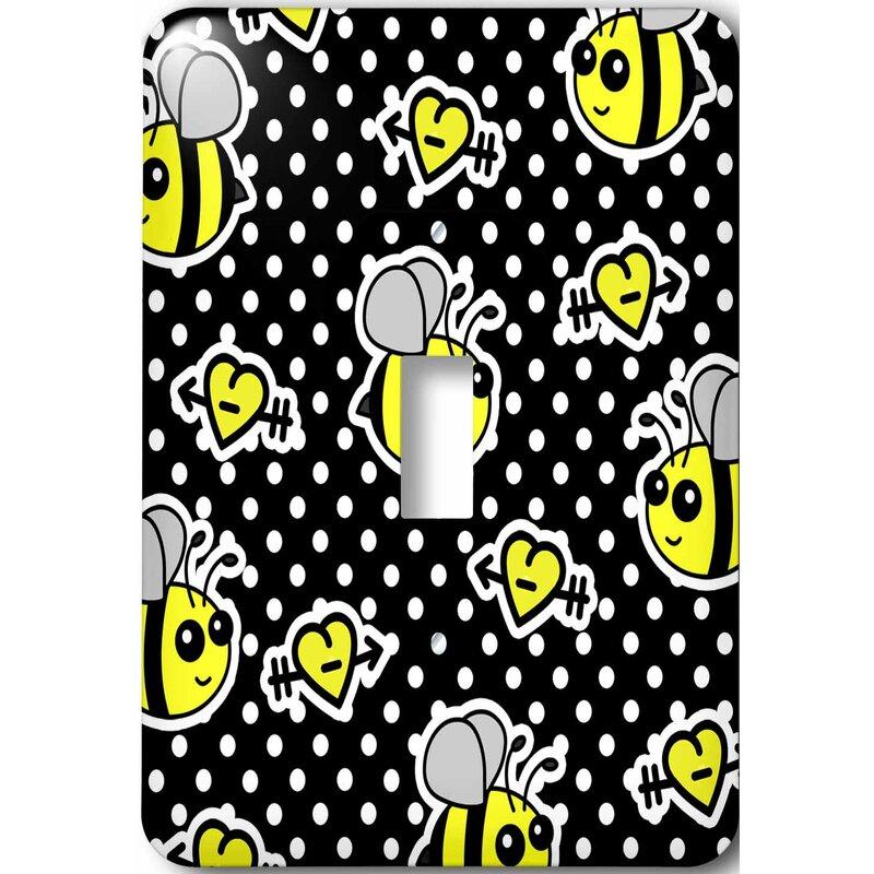 3drose Cute Bumble Bee Print 1 Gang Toggle Light Switch Wall Plate Wayfair