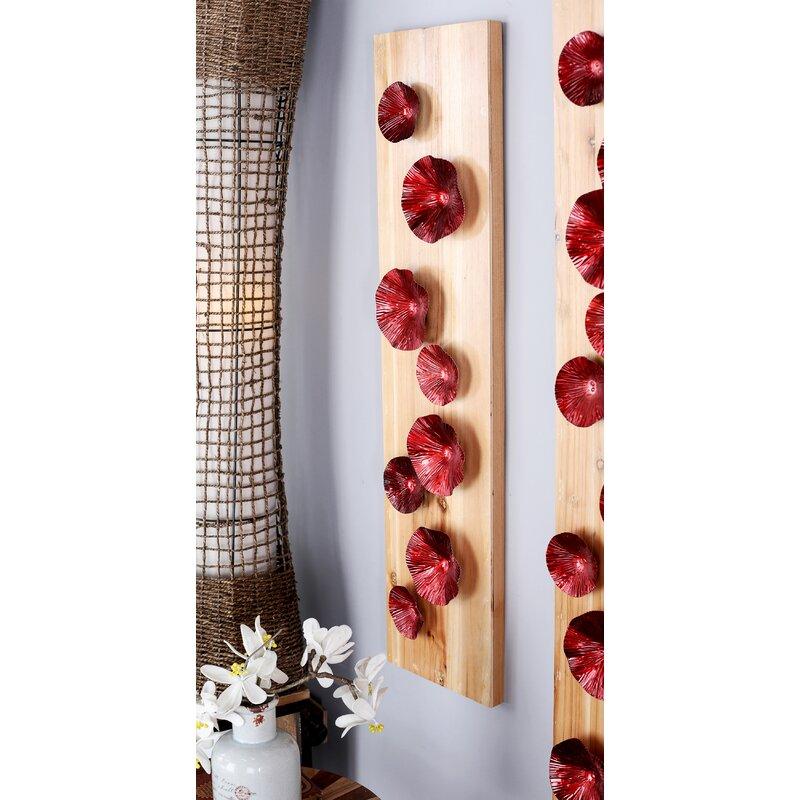 Bungalow Rose Natural Flowers Rectangular Wall Décor   Wayfair