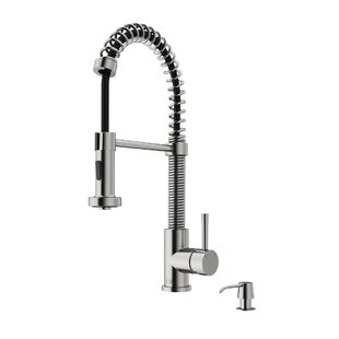 Review Edison Pull Down Single Handle Kitchen Faucet with Optional Soap Dispenser by VIGO
