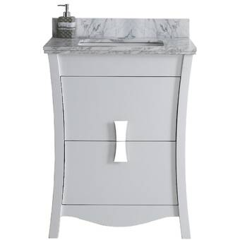 Royalpurplebathkitchen Hindman 61 Wall Mounted Single Bathroom Vanity Set Wayfair