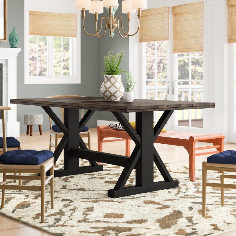 Gracie Oaks Solid Wood Dining Table Reviews Wayfair