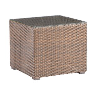 Pekalongan Outdoor Wicker Side Table by Bungalow Rose Sale