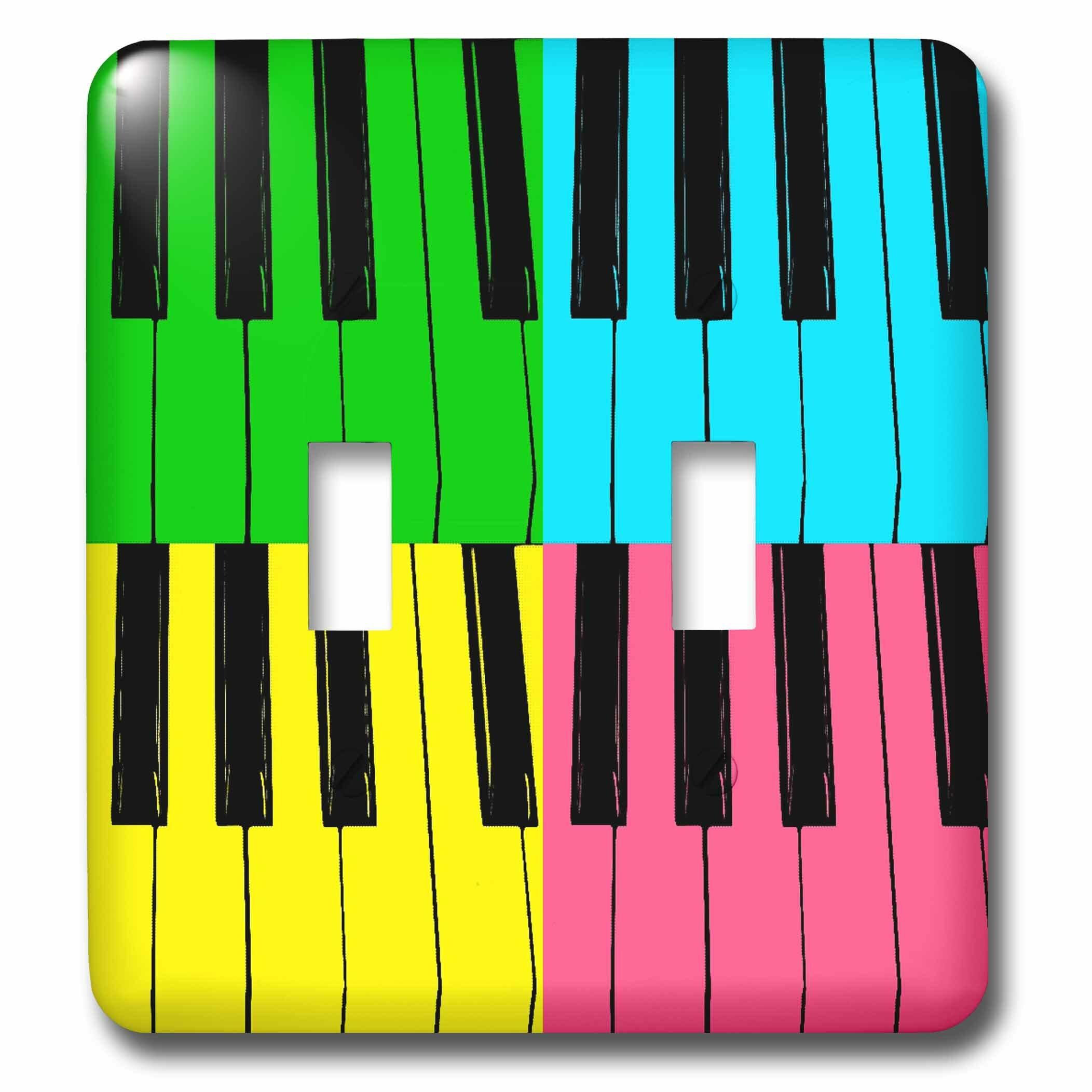 3drose Fun Piano Keys 2 Gang Toggle Light Switch Wall Plate Wayfair