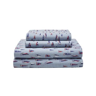 Sail Boats 180 Thread Count Sheet Set (Set of 4)