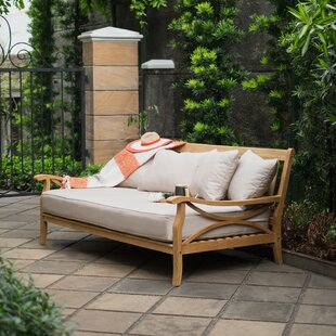 Brunswick Teak Patio Daybed With Cushions By Birch Lane™ Heritage