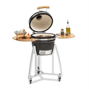 Review 34.5cm Kamado Portable Charcoal Barbecue