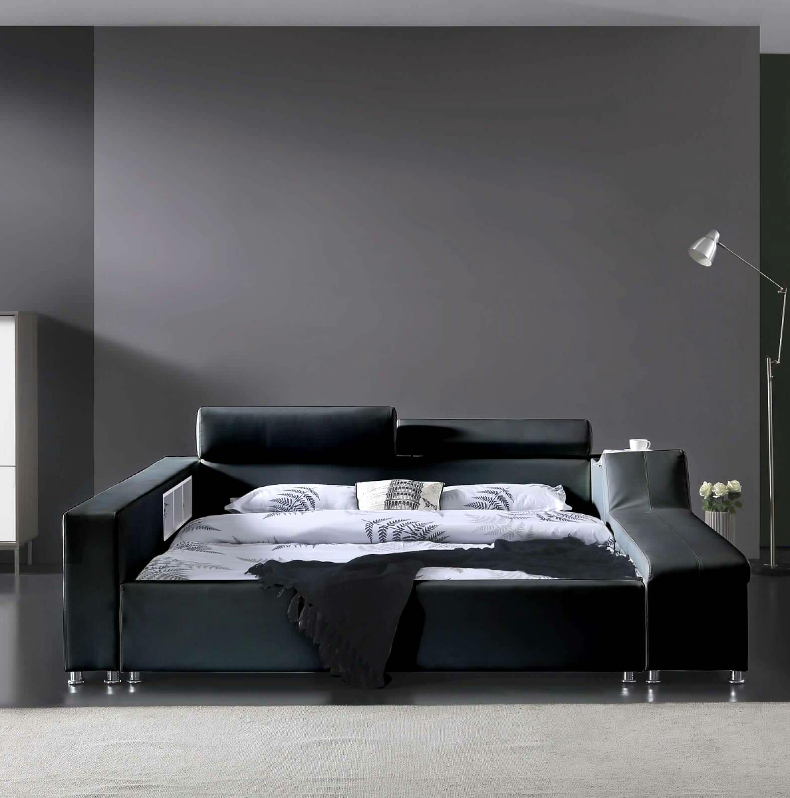 Picture of: Orren Ellis Waylen Upholstered Low Profile Platform Bed Reviews