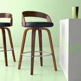 Hermina Swivel 28.2 Bar Stool (Set of 2) by Hashtag Home